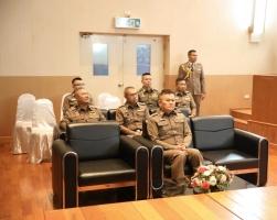 พิธีการรายงานตัวและมอบนโยบายการปฏิบัติราชการแก่ข้าราชการตำรวจที่ได้รับการแต่งตั้งดำรงตำแหน่งในสังกัด บช.ส. วาระประจำปี 256